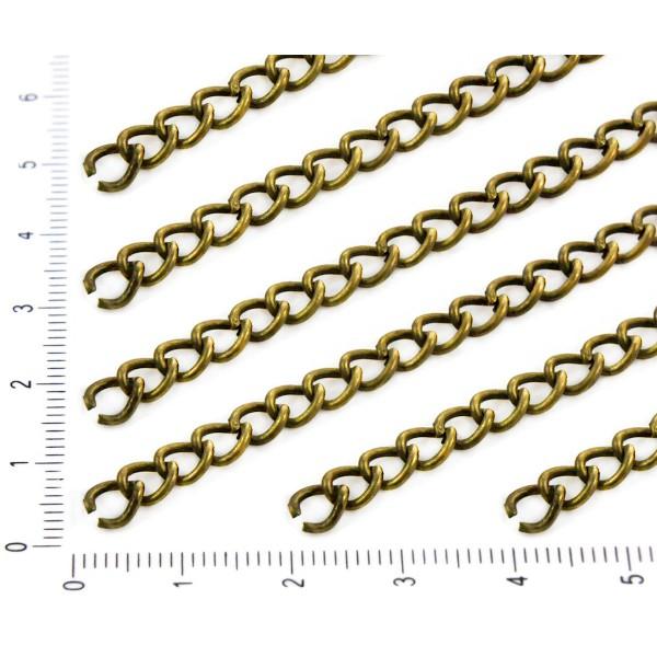 1m 3.3 ft 1.1 m en Bronze Antique Ovale Ouverture de la Chaîne de Fabrication de Bijoux en Métal les - Photo n°1
