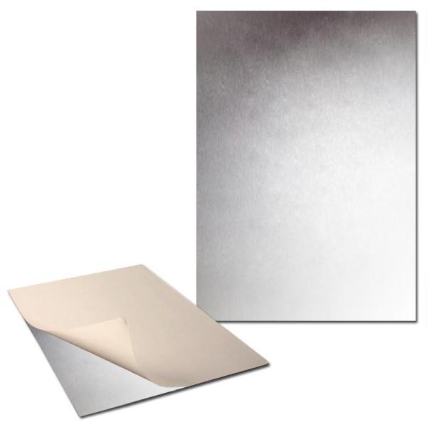 Plaque de métal extra fine adhésive x 2 - Photo n°1