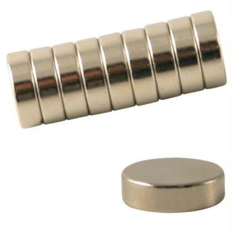 Aimant néodyme - Diamètre 10 mm - 10 pcs