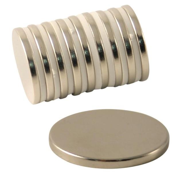 Aimant néodyme - Diamètre 20 mm - 10 pcs - Photo n°1