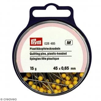 Épingle à tête en plastique jaune - 45 x 0,65 mm - 15 g