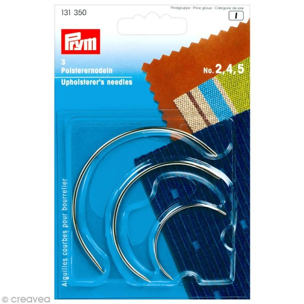 Aiguille courbe bourrelier - N°2-4-5 x 3 pcs - Photo n°1