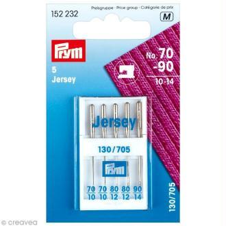 Aiguille machine à coudre - Jersey - N°70-90 x 5 pcs