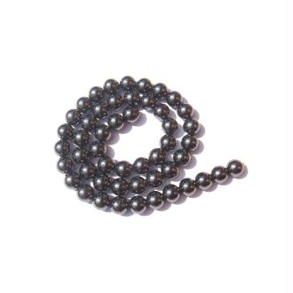 Hématite : 10 perles 8 MM de diamètre
