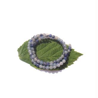 Aventurine bleue multicolore : 15 perles 4 MM de diamètre