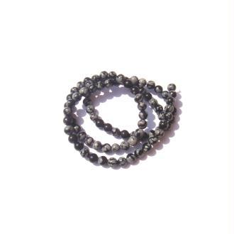 Obsidienne mouchetée : 10 perles 4 MM de diamètre