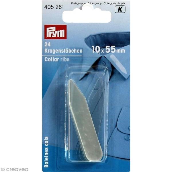 Baleine pour col de chemise en plastique - 24 pcs - Photo n°1