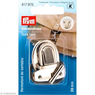 Fermeture de cartable Tuck - Argenté 26 mm - 1 pce