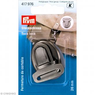 Fermeture de cartable Tuck - Argenté vieilli 26 mm - 1 pce
