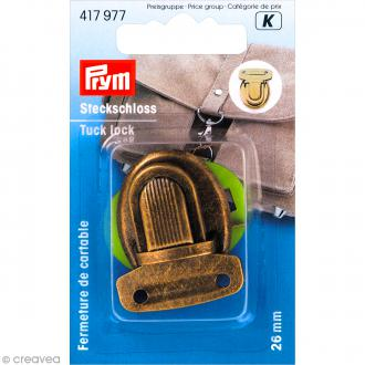 Fermeture de cartable Tuck - Or vieilli 26 mm - 1 pce