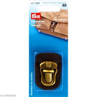 Fermeture de cartable Tuck à coudre - Noir 4 x 5,5 cm - 1 pce