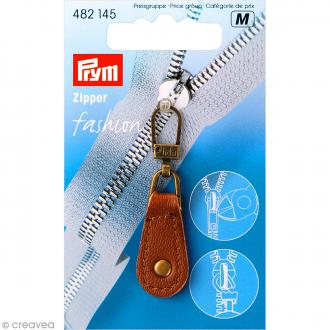 Tirette marron Zipper Fashion pour fermeture éclair - 5 cm