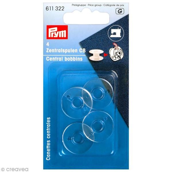 Canette en plastique pour machine à coudre - 20,5 x 11,7 mm - 4 pcs - Photo n°1