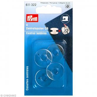 Canette en plastique pour machine à coudre - 20,5 x 11,7 mm - 4 pcs