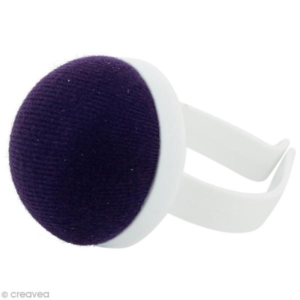 Bracelet porte épingles violet - Photo n°1