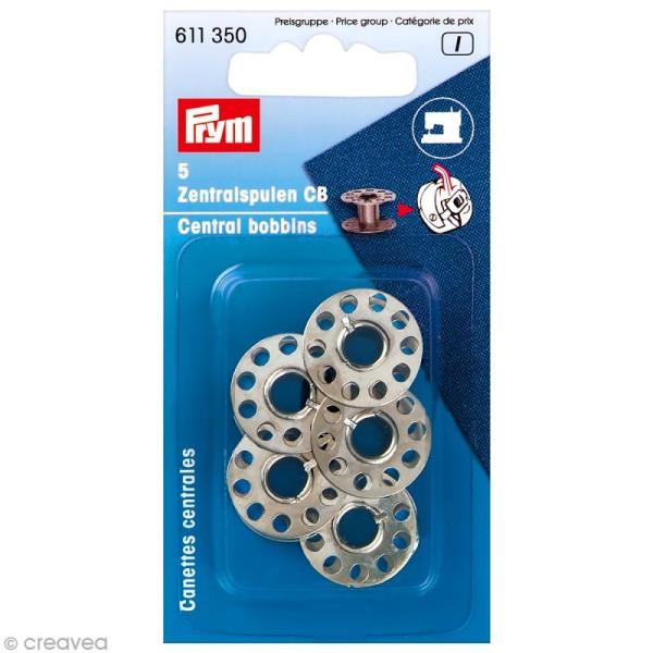 Canette centrale en acier pour machine à coudre - 20,5 x 11,7 mm - 5 pcs - Photo n°1