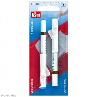 Crayons craie Blancs et brosses - 11 cm