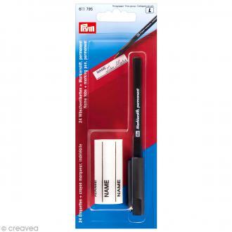 Set étiquettes pour linge thermocollantes et feutre permanent