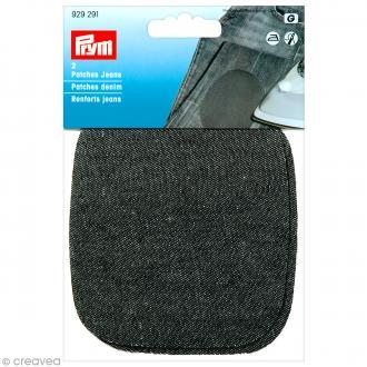Coude thermocollant - Jeans noir 11 x 10 cm - 1 paire