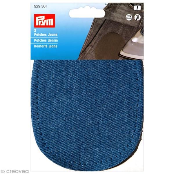 Coude thermocollant - Jeans bleu 14 x 10 cm - 1 paire - Photo n°1