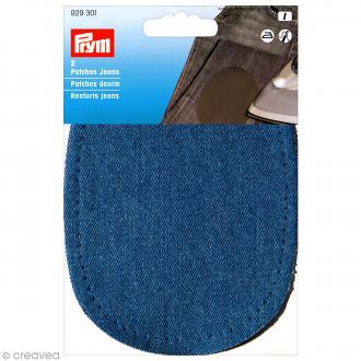 Coude thermocollant - Jeans bleu 14 x 10 cm - 1 paire