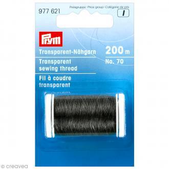 Fil à coudre noir transparent - 200 mètres