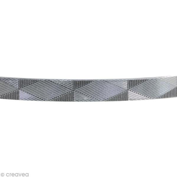 Fil alu Plat graphique - Argenté - 5 mm x 3 m - Photo n°2