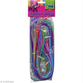 Fil scoubidou Fashion Strings Opaque - 1 mètre - 50 pcs