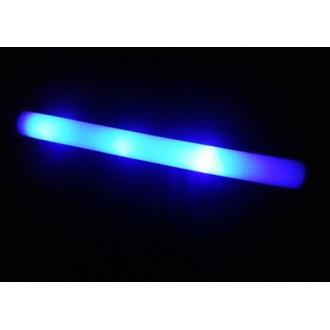 12 Bâtons mousse lumineux bleu (luminosité fixe)