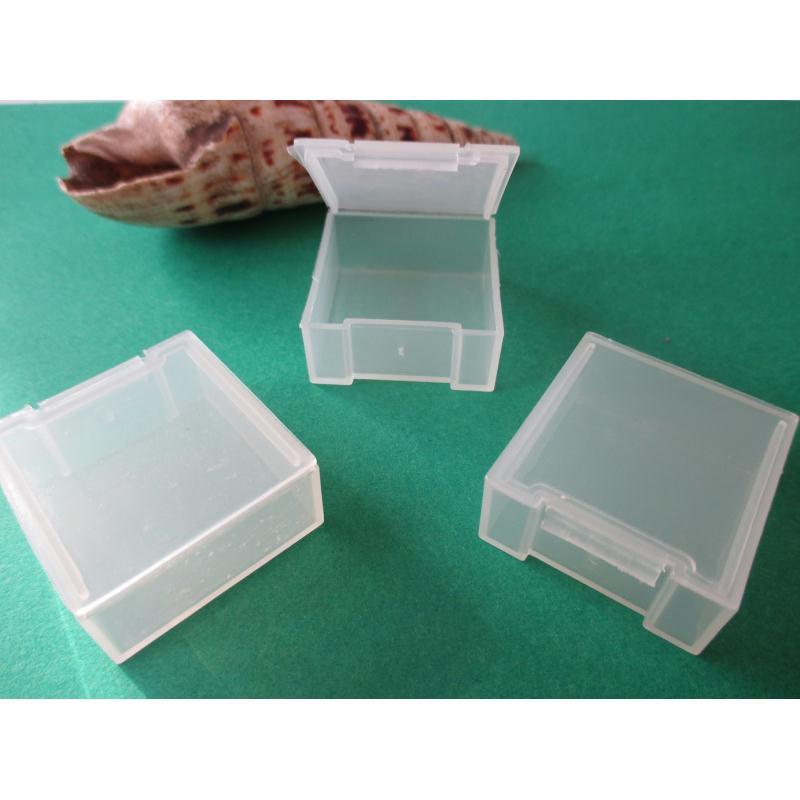 Lot de 6 petites boites plastiques - Boite rangement perles - Creavea