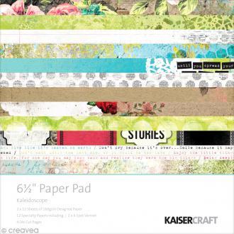 Papier scrapbooking Kaiser craft - Kaléidoscope - 24 feuilles + dies cuts