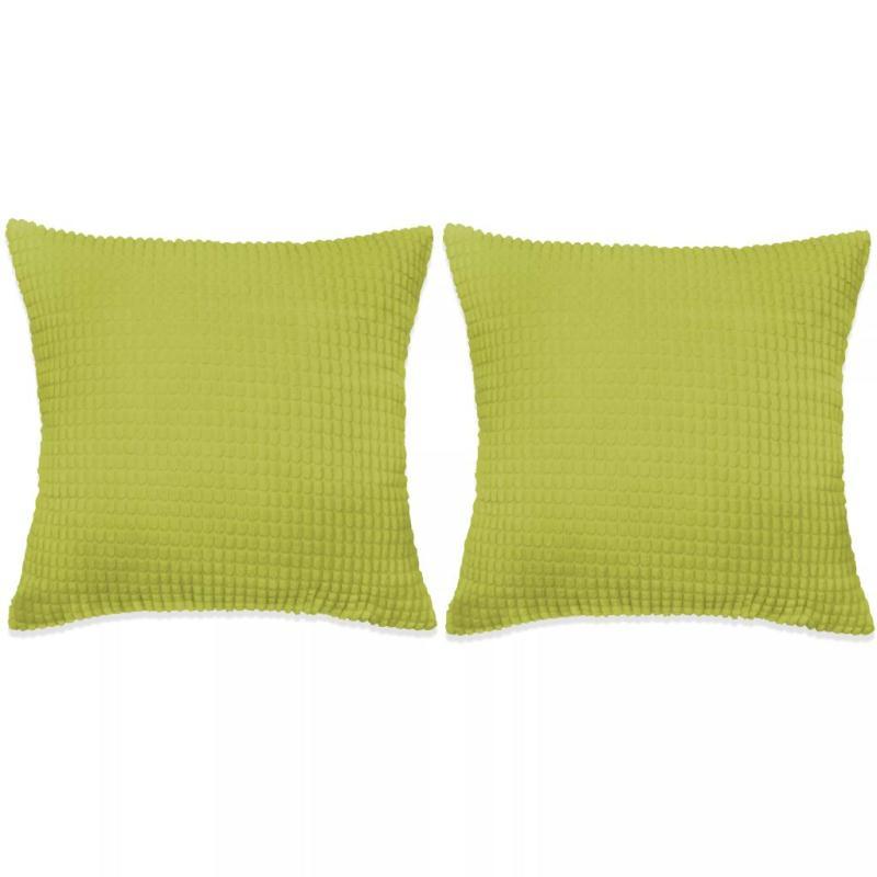 vidaxl jeu de coussin 2 pcs velours 45 x 45 cm vert coussins pour fauteuils et canap s creavea. Black Bedroom Furniture Sets. Home Design Ideas