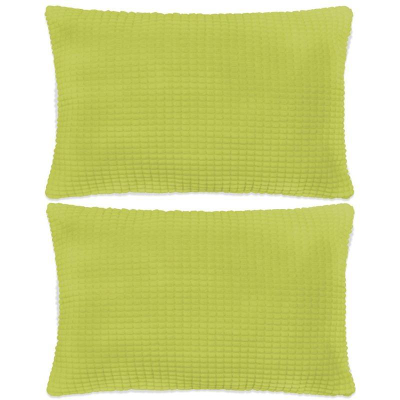 vidaxl jeu de coussin 2 pcs velours 40 x 60 cm vert coussins pour fauteuils et canap s creavea. Black Bedroom Furniture Sets. Home Design Ideas