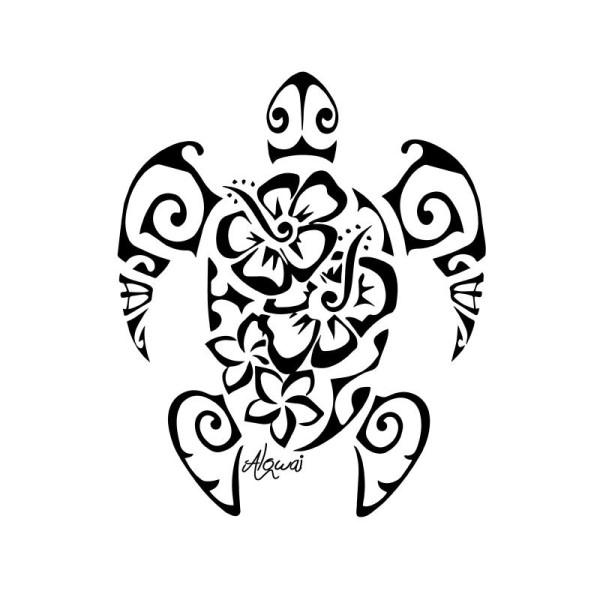 Flex Thermocollant Tattoo Tortue Fleurs Flex Thermocollant Creavea