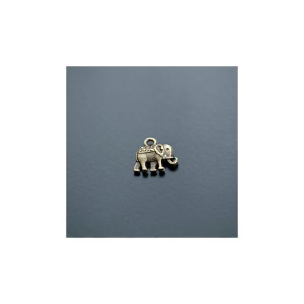 Breloque Éléphant Indien Bronze vieilli x 10pcs - Photo n°1