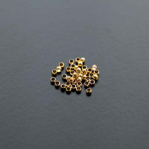 Perle à écraser Rond 1.2mm Doré x 200 - Photo n°1