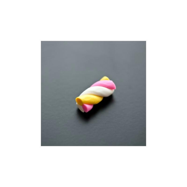 Pâte fimo Friandise Chamallow Torsadé 22mm x 4 - Photo n°1