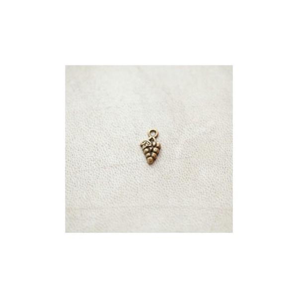 Breloque Grappe de raisins 13mm Bronze Vieilli x 30pcs - Photo n°1