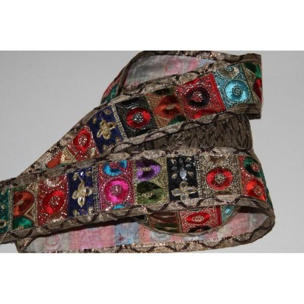 Galon ethnique patchwork, ruban de 5.5 cm de large - Photo n°3