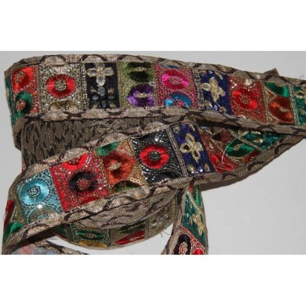 Galon ethnique patchwork, ruban de 5.5 cm de large - Photo n°4