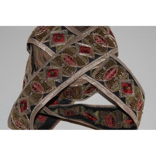 Galon ethnique patchwork, ruban de 6 cm de large - Photo n°3
