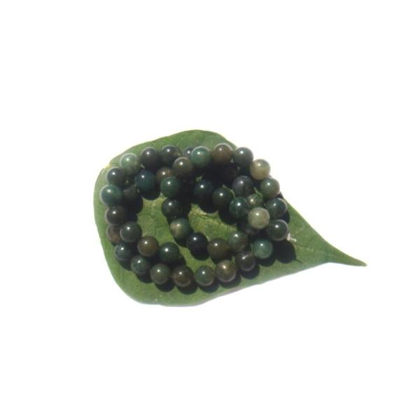 Agate Mousse multicolore : 10 Perles assorties 8 MM de diamètre - Photo n°1