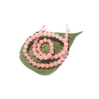 Quartz Rose : 10 Perles rondes 6 MM de diamètre