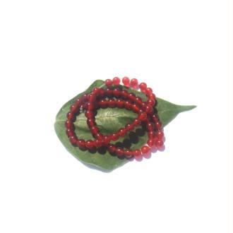 Agate Rouge : 10 Perles 6 MM de diamètre