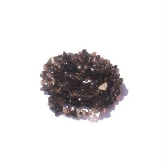 Quartz fumé : 50 perles chips 6/9 MM de diamètre