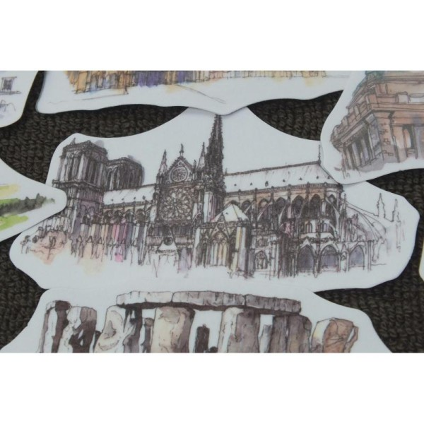 LOT DE 44 STICKERS : les plus beaux monuments du monde - Photo n°2