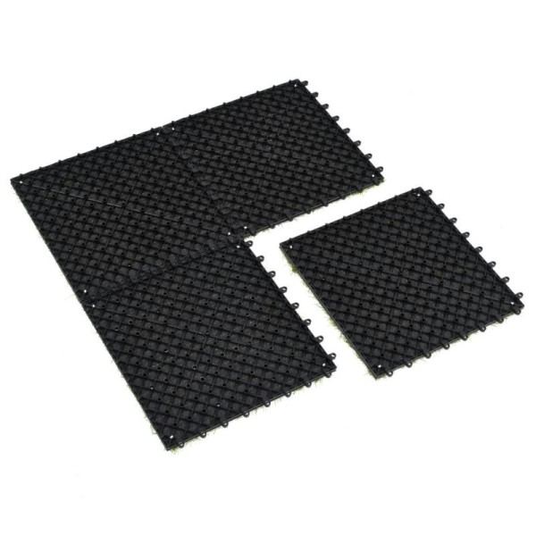Vidaxl Carreau De Gazon Artificiel 10 Pcs 30 X 30 Cm Vert - Photo n°5