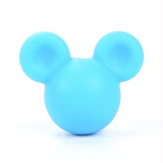 Perle en Silicone Bleu Souris 24mm x 20mm Mickey, Creation attache tetine, bijoux