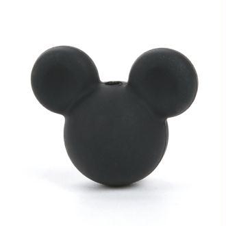 Perle en Silicone Noir Souris 24mm x 20mm Mickey, Creation attache tetine, bijoux