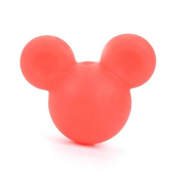 Creation attache tetine ... Perle en Silicone Souris 24mm x 20mm Mickey